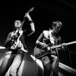 Nick and Alex - Franz Ferdinand at The Olympia by Debbie Hickey